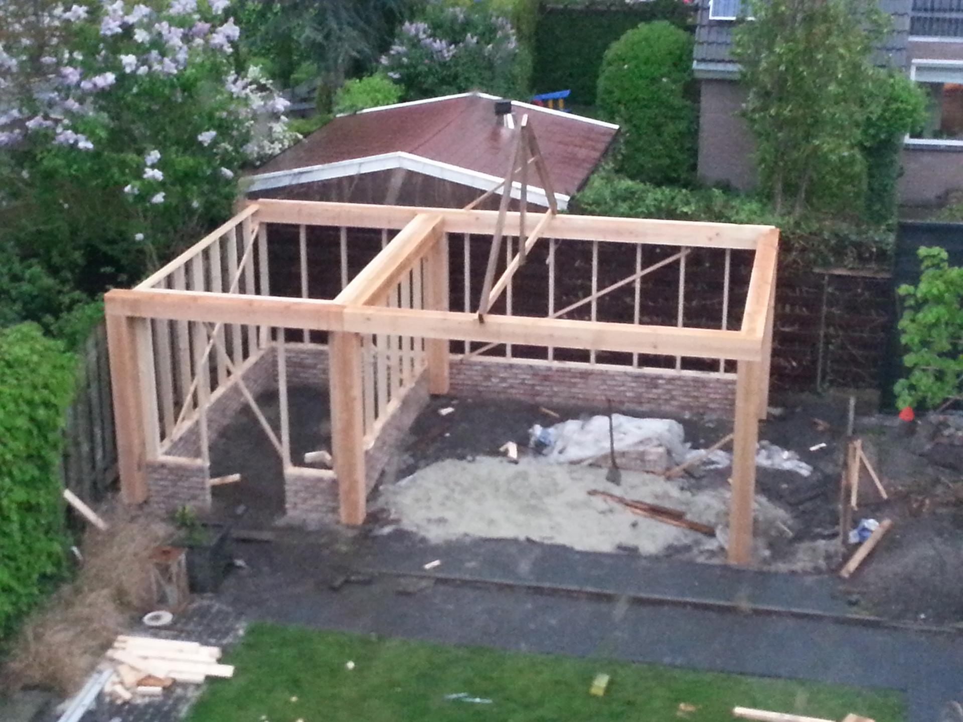 Tuin Met Overkapping : Overkapping tuin u henk scholing bouwbedrijf